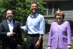 Hollande Merkel Obama