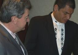 09-Avec Rafael Correa, Président de la République de l'Equateur