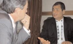 10-Avec Rafael Correa, Président de la République de l'Equateur