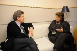 22-Avec Leila Shahid représentante de la Palestine auprés de l'UE
