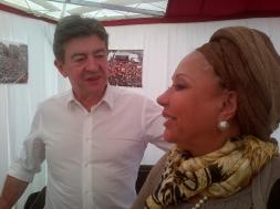 13-Avec l'ancienne sénatrice et porte parole de la Marche patriotique colombienne, Piedad Cordoba. Fête de l'Humanité Septembre 2012