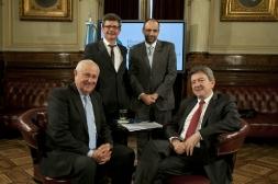 07-Avec le député socialiste Oscar Uruty et le Premier Intendant Socialiste Hector Cavallero, accompagné de Marcelo Brignoni, Congrès de la Nation Argentine, 11 Octobre 2012
