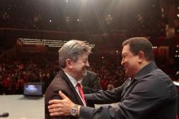 08-Jean-Luc Mélenchon et Hugo Chavez au Foro de Sao Paulo à Caracas en Juillet 2012