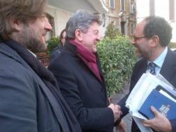 27 - Avec Fabio Amato de rifondazione et Antonio Ingroia, candidat de la Rivoluzione Civile, Rome Février 2013