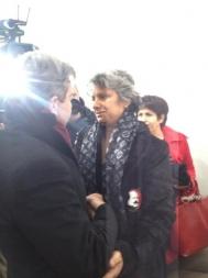 29 - Avec Besma Khalfaoui, veuve de Chokri Belaïd, Tunis, Février 2013